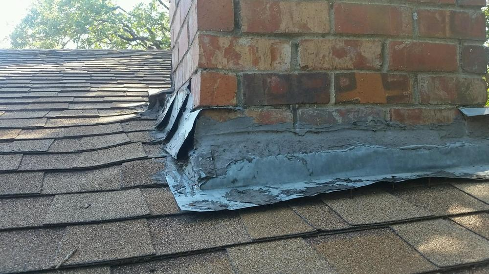 improper chimney flashing